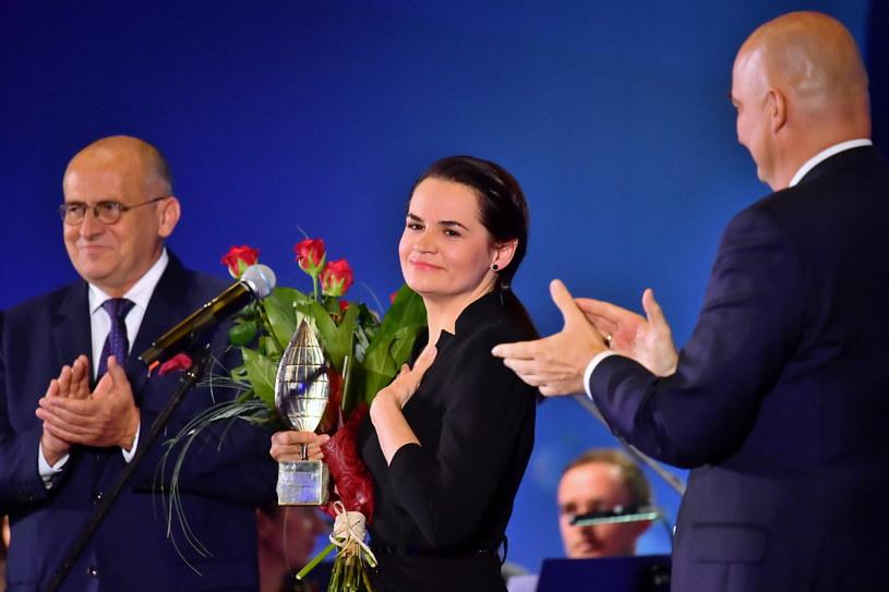 Swiatłana Cichanouska na Forum Ekonomicznym w Karpaczu / Maciej Kulczyński    /PAP