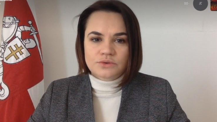 """Swiatłana Cichanouska w magazynie """"Dzień na Świecie"""" /Polsat News"""