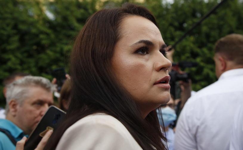 Swiatłana Cichanouska /TATYANA ZENKOVICH  /PAP/EPA
