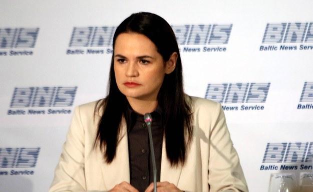Swiatłana Cichanouska / STR   /PAP/EPA