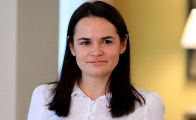Swiatłana Cichanouska /STRINGER /PAP/EPA