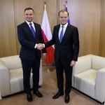 """Światowe agencje relacjonują spotkanie Tusk - Duda. """"Starają się stonować spór między Warszawą a UE"""""""