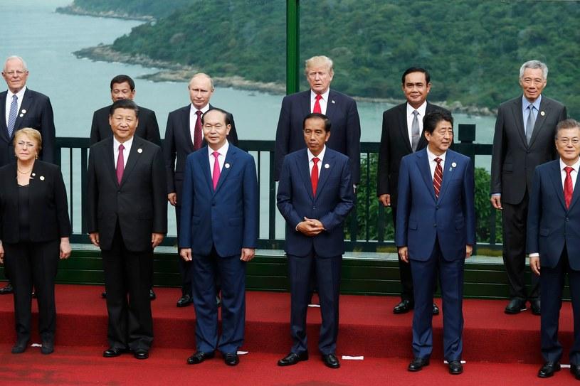 Światowi przywódcy na szczycie APEC /AFP
