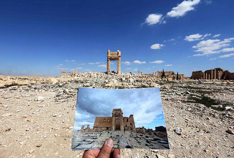 """Świątynia Bela. ISIS uznało ten bezcenny zabytek za """"obrazoburczy"""" i właściwie zrównało go z ziemią /JOSEPH EID / AFP  /AFP"""