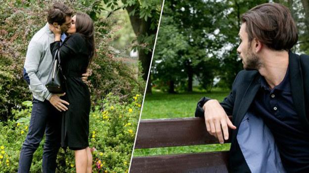 Świderski porywa Larę na romantyczną randkę. W parku całującą się parę widzi... Alek. /www.barwyszczescia.tvp.pl/