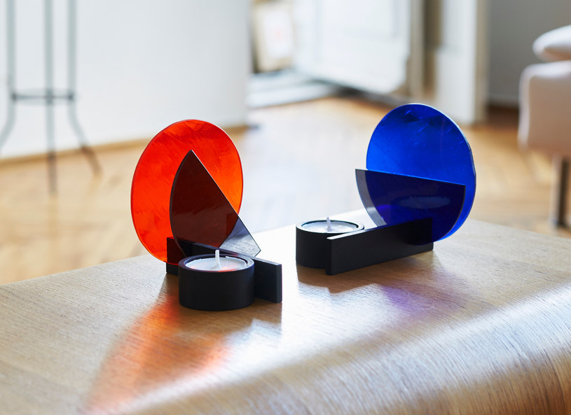 Świeczniki inspirowane estetyką Bauhausu /materiały prasowe