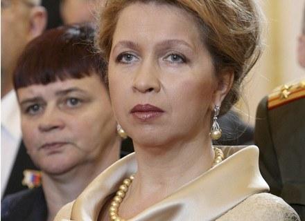 Swietłana Miedwiediewa w sukni od Yudashkina /AFP