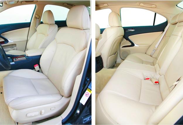 Świetne fotele przednie są zazwyczaj obszyte skórą, regulowane elektrycznie, podgrzewane i wentylowane. Z tyłu niestety jest dosyć ciasno. Ale rywale z segmentu premium nie są lepsi. /Motor