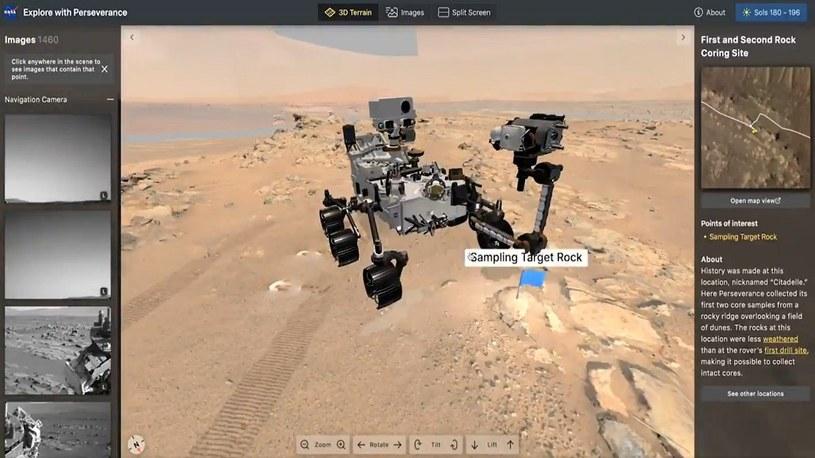 Świetne narzędzia NASA pozwalają w 3D i niemal na żywo oglądać łazik na Marsie /Geekweek