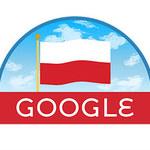 Święto Niepodległości. Google Doodle z biało-czerwonym logo