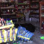 Świętochłowice: W sklepie zawaliła się podłoga. Kilka osób wpadło do piwnicy [FILM]