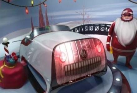 Święty Mikołaj i jego nowe sanie /materiały prasowe