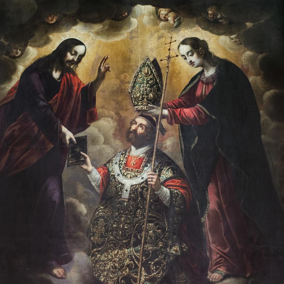 Święty Mikołaj, wczesny barok, 1643, Augustyn Ranisch, Obraz z ołtarza głównego Bazyliki pw. Świętego Mikołaja w Gdańsku /Zdjęcie udostępnione /