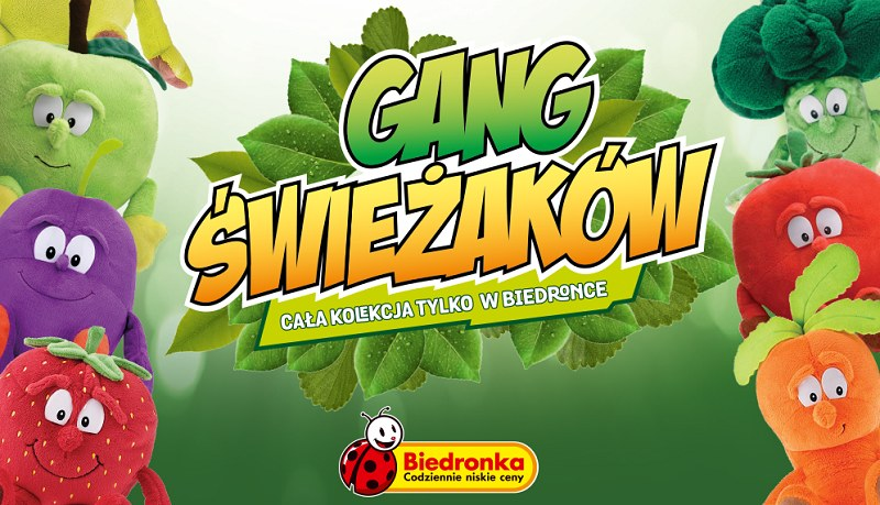 Świeżaki stały się bardzo popularne /gangswiezakow.biedronka.pl /Internet