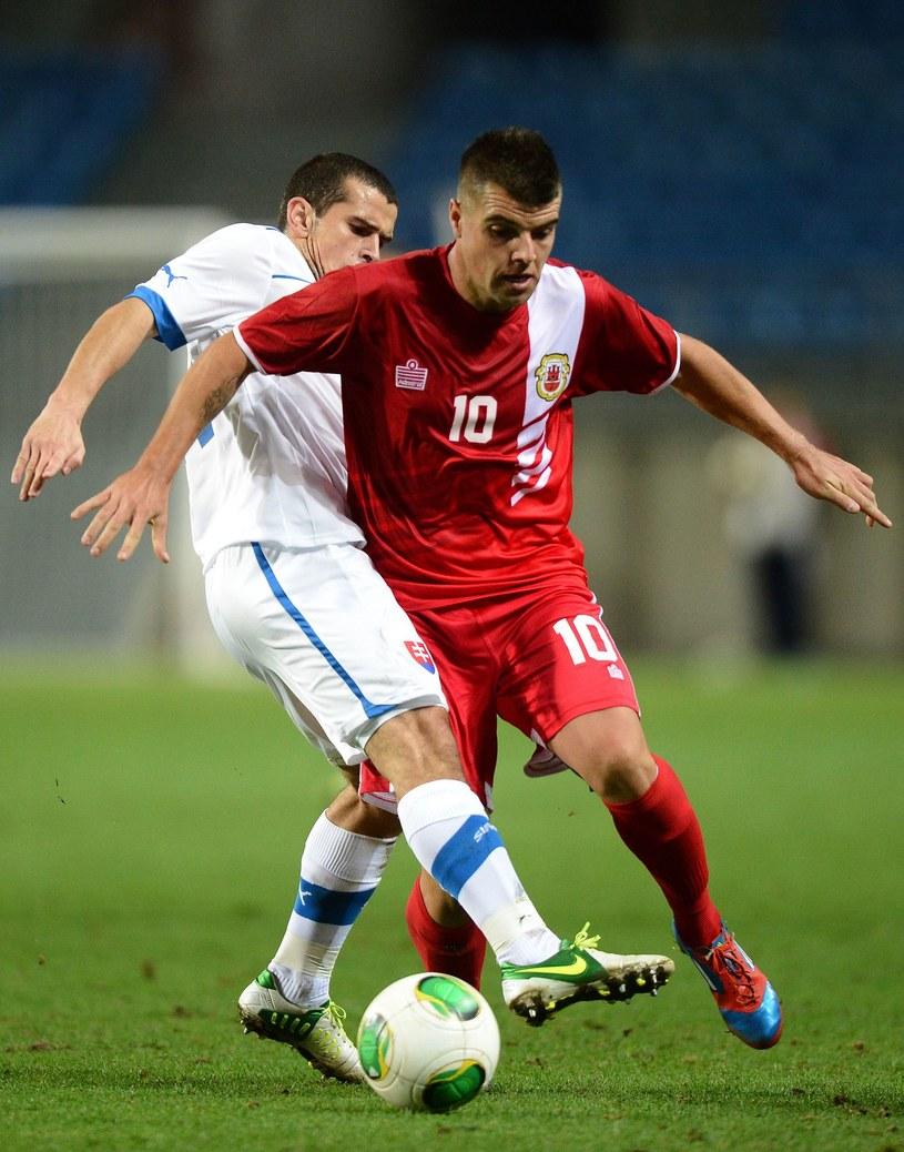 Swój pierwszy mecz Gibraltar rozegrał ze Słowacją /AFP
