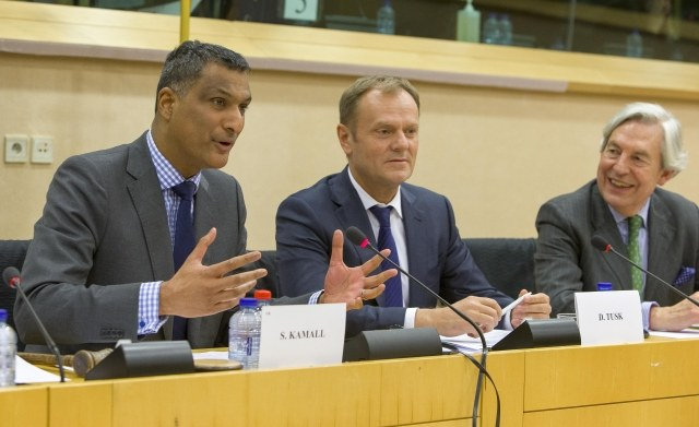 Syed Kamall w towarzystwie Donalda Tuska / fot. Unia Europejska /