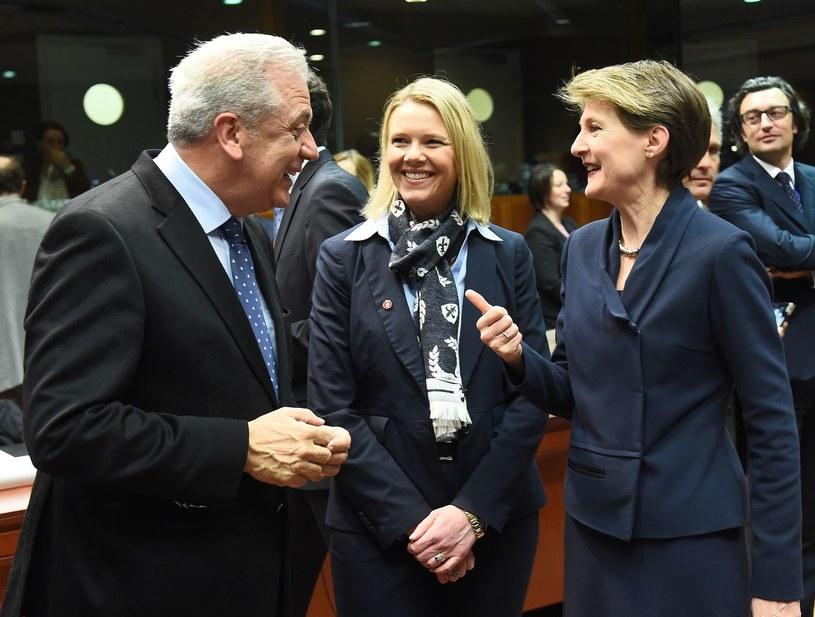 Sylvi Listhaug (w środku) /AFP