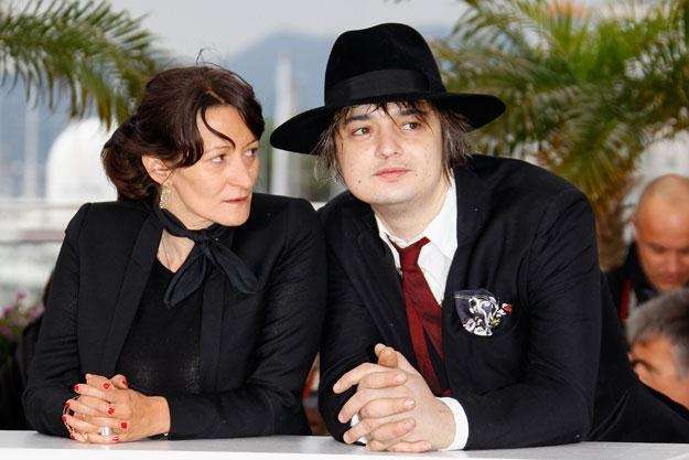 Sylvie Verheyde i Pete Doherty podczas festiwalu w Cannes fot. Andreas Rentz /Getty Images/Flash Press Media