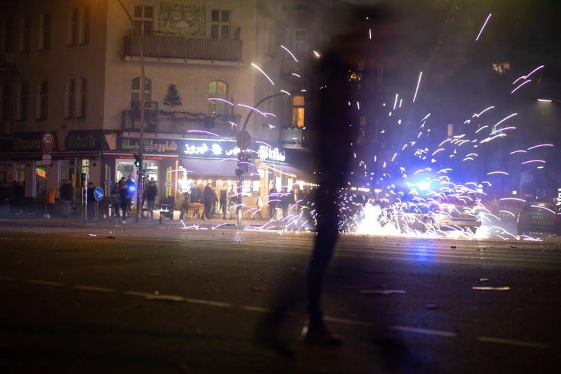 Sylwestrowa noc w Berlinie /OMER MESSINGER  /PAP/EPA