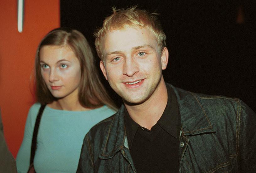 Sylwia Gliwa i Borys Szyc w 2001 roku /Mikulski /AKPA