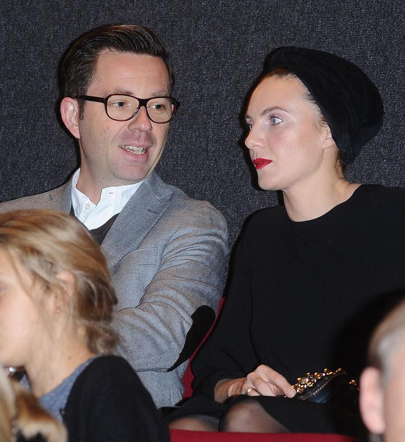 Sylwia Gliwa z mężem /Andras Szilagyi /MWMedia