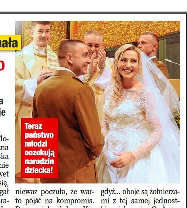 Sylwia Gruchała i Marek Bączek przed ołtarzem /Twoje Imperium