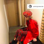 Sylwia Grzeszczak postawiła na czerwień i kratę