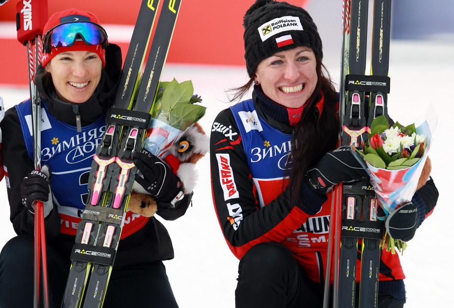 Sylwia Jaśkowiec i Justyna Kowalczyk /Grzegorz Momot /PAP