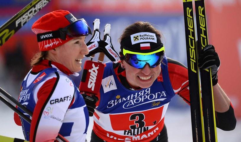 Sylwia Jaśkowiec i Justyna Kowalczyk /AFP
