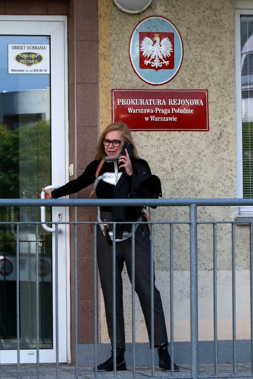 Sylwia Wysocka w prokuraturze /pomponik exclusive