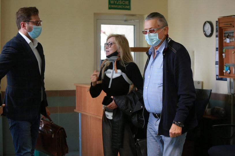Sylwia Wysocka z partnerem w prokuraturze /pomponik exclusive