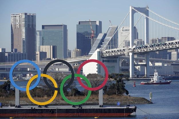 Symbol olimpijski w Tokio /FRANCK ROBICHON /PAP/EPA