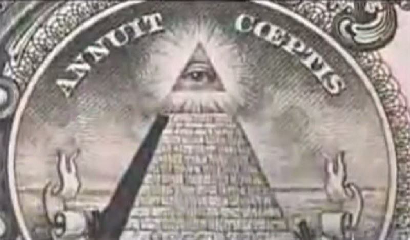 Symbole iluminatów znajdują się rzekomo na banknotach Stanów Zjednoczonych /WEHAVEONELASTCHANCE /YouTube