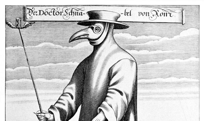 Symbolem czarnej śmierci stały się maski noszone przez ówczesnych lekarzy /domena publiczna