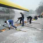 Symboliczny noworoczny trening na wodzie wioślarzy Lotto-Bydgostii