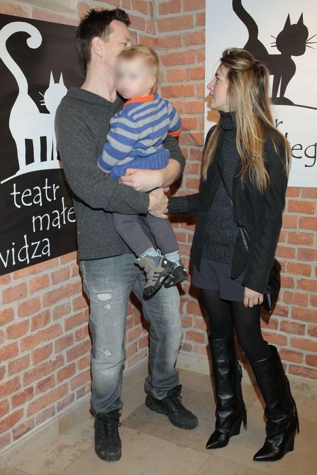 Syn Bruno jest całym życiem Wojciecha Błacha /MWMedia