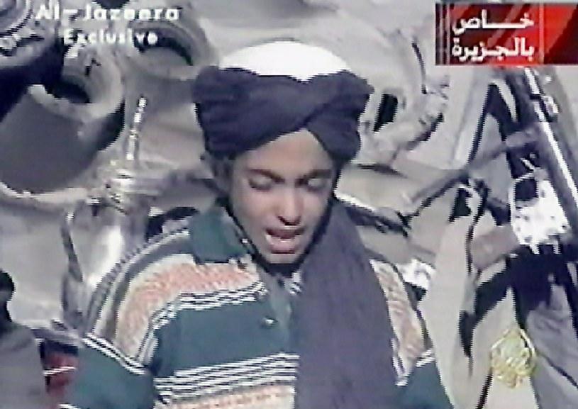 Syn Osamy bin Ladena - Hamza bin Laden na nagraniu z 2001 roku /AL-JAZEERA    /AFP