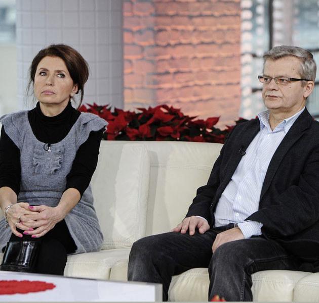 """Syn Villas, Krzysztof Gospodarek, z żoną Małgorzatą w """"DD TVN"""".  /Piotr Blawicki /East News"""