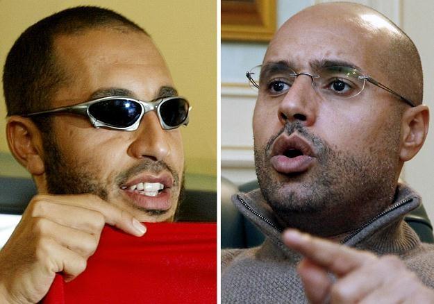 Synowie Muammara Kadafiego: Saadi i Saif al-Islam /AFP