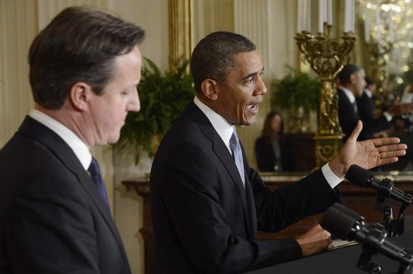 Syria była jednym z tematów poniedziałkowego spotkania Obamy z brytyjskim premierem Davidem Cameronem w Białym Domu. /PAP/EPA