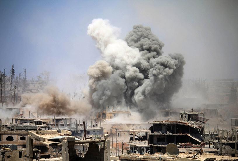 Syria: Od dekady trwa wojna domowa /MOHAMAD ABAZEED /AFP