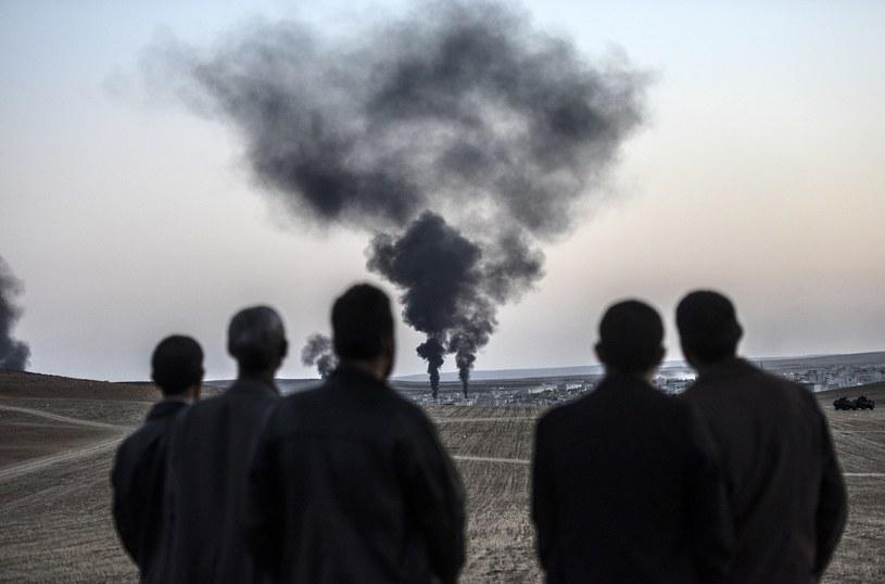 Syria. W tle walki o miasto Kobane /AFP