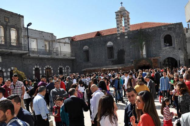 Syryjcy chrześcijanie w mieście Homs /AFP