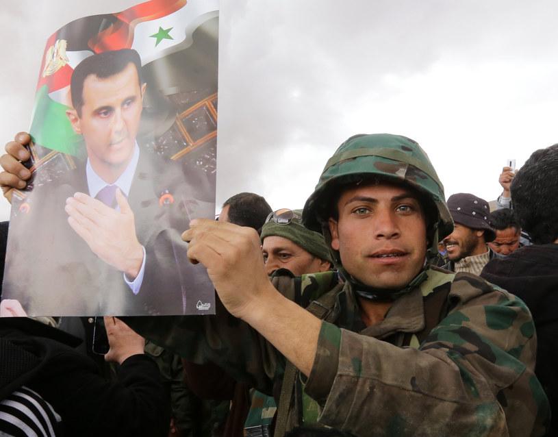 Syryjczycy popierający Baszara al-Asada /AFP