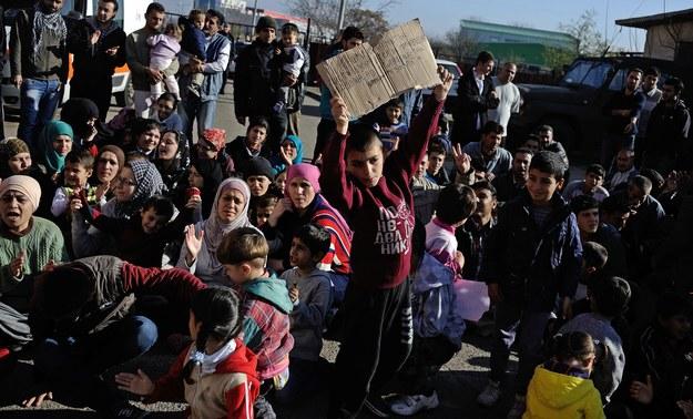 Syryjscy uchodźcy /VASSIL DONEV /PAP/EPA
