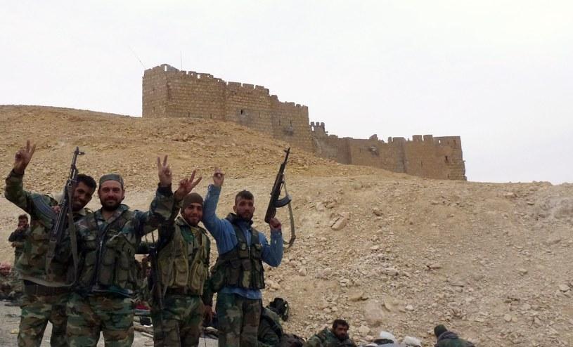 Syryjscy żołnierze w Palmirze /AFP