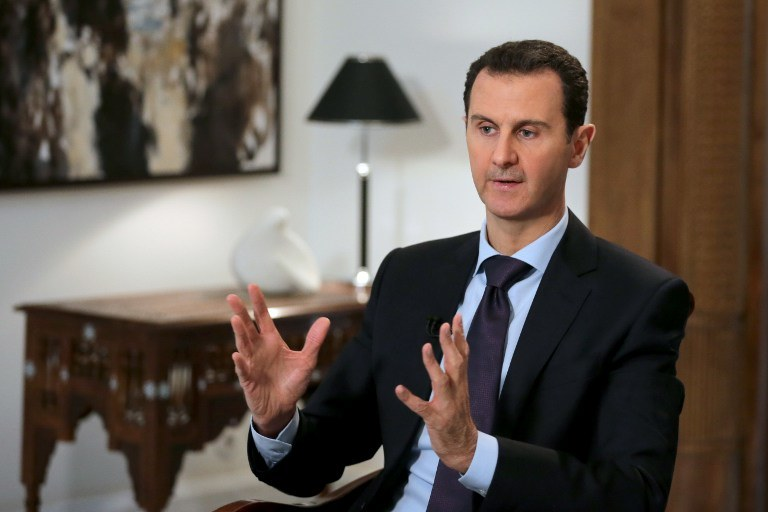 Syryjski prezydent podczas wywiadu dla AFP /JOSEPH EID / AFP  /AFP