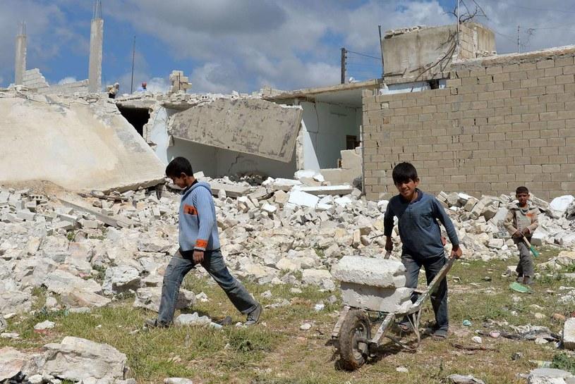 Syryjskie dzieci /AFP