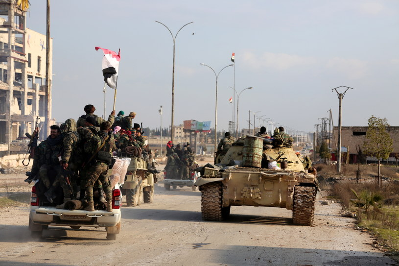 Syryjskie siły rządowe w Aleppo /ABDO HAJJ AHMAD  /PAP/EPA