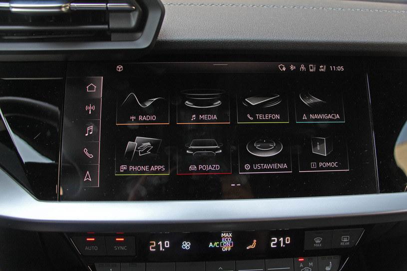System info-rozrywki w nowym audi A3 /INTERIA.PL